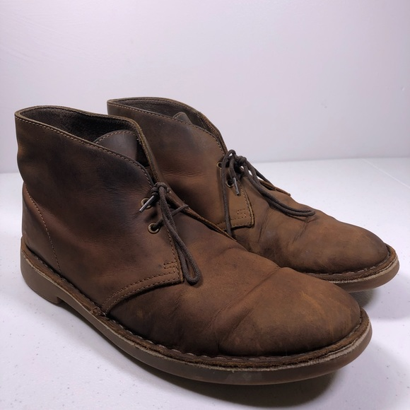 8d1ae313a56 Clarks Bushacre 2 Chukka Men's Brown Leather Boots